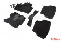 Коврики  VW Golf VII 2012г. /Octavia A7 2013г. /Seat Leon 2012г./компл.5шт./осн.резин./ 3D