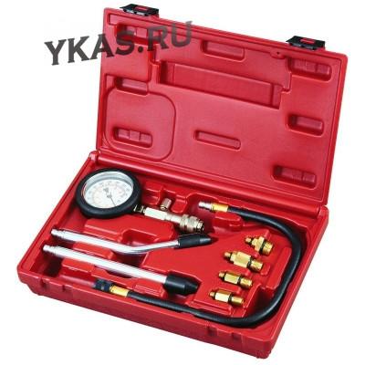 Компрессометр бензиновый, 0-20 атм, кейс, 8 предметов _39346