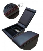 Подлокотник мод. Hyundai Solaris I с 2011-2017г.  чёрный/чёрный/красный