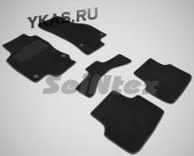 Коврики текстильн. VW Golf VII 2012г. /Octavia A7 2013г. /Seat Leon 2012г./компл.5шт./осн.резин/ LUX