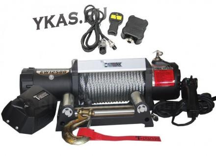 Лебедка T-MAX HEW-12500 (5,7т)  X-Power + дистанционный пульт управления (влагозащита IP67)