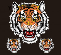 Наклейка  Тигр 22x20см