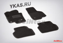 Коврики  VW Jetta VI 2011-2019г. /компл.5шт./осн.резин./ 3D