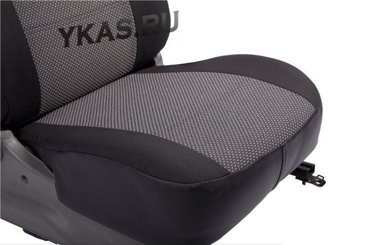 АВТОЧЕХЛЫ   Hyundai  Solaris с 2017г-   (Раздельный)  (жаккард+экокожа)