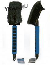 """Щетка для мойки  """"Black&Blue"""" для труднодоступных мест, поролоновая ручка (40см) (BB534)"""