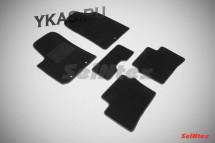 Коврики текстильн. KIA Picanto II 2011-2017г. /компл.4шт./осн.резин./ LUX