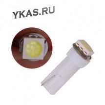 SOLAR  Свет-од  12V  T5 1 SMD  W2.x4.6d  WHITE  (цена за 100шт)