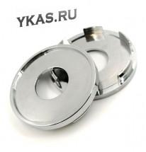 Заглушка (колпачок) на литой диск D63, наружн. d=63 мм, внутр d=58,5 мм. хром