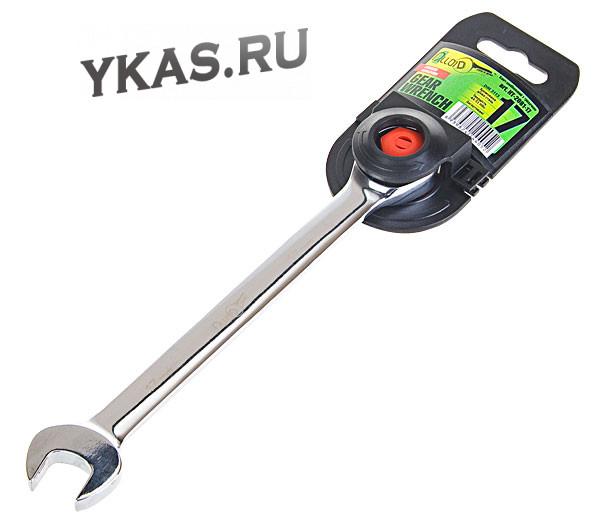 Alloid. Ключ комбинированный трещоточный 15 мм.