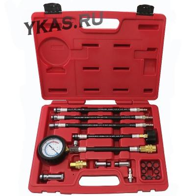 Компрессометр бензиновый, 0-21 атм, кейс, 19 предметов _39348