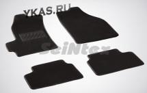 Коврики текстильн. Chevrolet Spark I 2005-2010г. /компл.5шт./осн.резин./  LUX