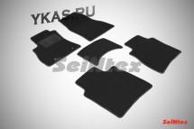 Коврики текстильн. Nissan Tiida С13 с 2015г./Sentra с 2014г-  /компл.5шт./осн.резин./ LUX