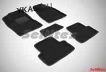Коврики  Nissan X-trail (T31) 2007-2015г./компл.5шт./осн.резин./ 3D