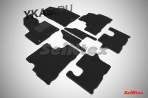 Коврики текстильн. KIA Sorento Prime (3 ряда) с 2015г- /компл.8шт./осн.резин./ LUX