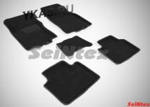 Коврики  Nissan X-trail III с 2015г./компл.5шт./осн.резин./ 3D