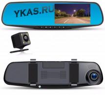 Видеорегистратор-зеркало  Protek M550 задняя камера работает как парктроник Full HD