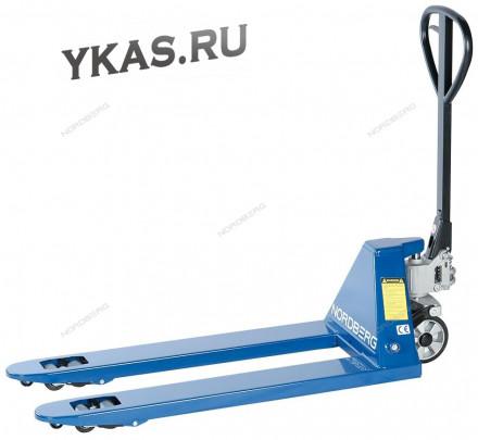 ТЕЛЕЖКА (РОХЛЯ) складская гидравлическая 3 т, с резиновыми колесами_53895