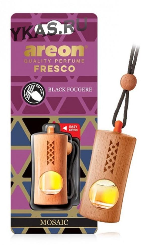 "Осв.возд. Areon FRESCO ""бутылочка в дереве"" MOSAIC  Black Fougere"