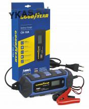"""Зарядное устр-во  """"GOODYEAR""""  CH-10A  6-12В/IP65/ до 200Ач/ для всех типов АКБ ( GEL, AGM,  WET, MF)"""