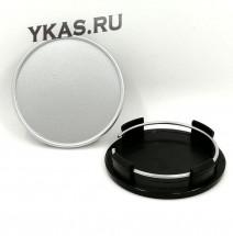 Заглушка (колпачок) на литой диск D65, наружн. d=60мм, серебро
