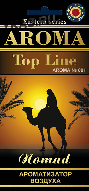 Осв.возд.  AROMA  Topline  Восточная серия  №001   Nomad aroma (аромат кочевника)