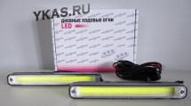 Ходовые огни  SOLAR  COB 5W  200*40*25мм  12V  металл,  контролер
