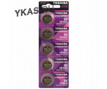 Батарейки Toshiba   круглые CR1632 цена за 5шт.