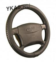 Оплетка на руль   CF  TRESS - М, Чёрный/Черный