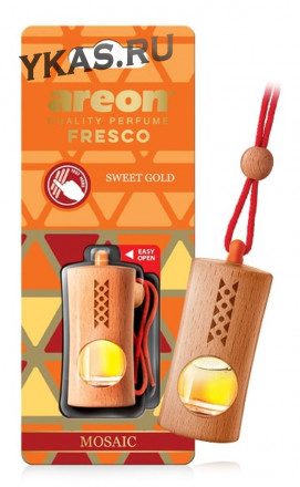 "Осв.возд. Areon FRESCO ""бутылочка в дереве"" MOSAIC  Sweet Gold"