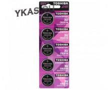 Батарейки Toshiba   круглые CR2016 цена за 5шт.