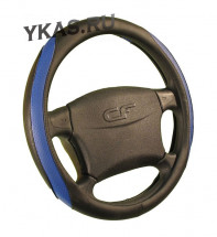 Оплетка на руль   CF  DANDY - М, Чёрный/Синий