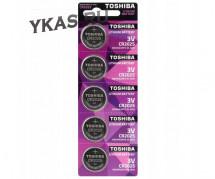 Батарейки Toshiba   круглые CR2025 цена за 5шт.