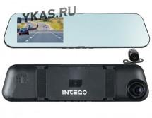 Видеорегистратор-зеркало  Intego VX-415 MR задняя камера работает как парктроник HD