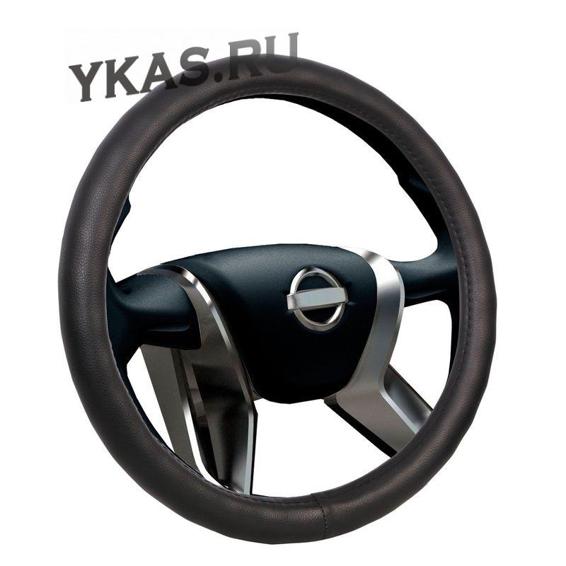 Оплетка на руль  VOIN  CLASSIK  0801 M  экокожа, черный