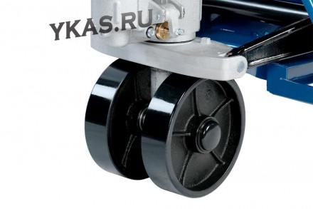 ТЕЛЕЖКА (Рохля) складская гидравлическая с низким подхватом 1 т, с полиуретановыми колесами, макс. высота подъема 820 мм_53893