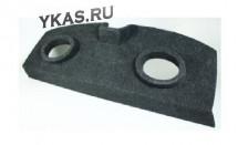 Полка акустическая  Renault Logan  дсп/мдф (15-20мм), карпет  Черный