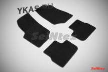 Коврики текстильн. Peugeot 207 2006-2013г.  /компл.4шт./осн.резин./ LUX