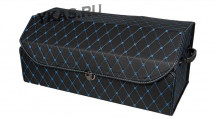 Сумка органайзер в багажник «L» 70/30/30 черный/шов синий