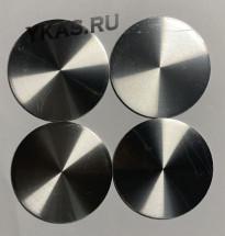 "Этикетки на диски (метал)  диам. 45мм.  ""один цвет"" серебро  (4 шт.)"