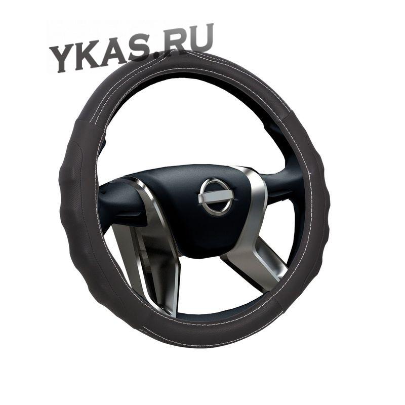 Оплетка на руль  VOIN  MODERN  0301 M  экокожа, черный