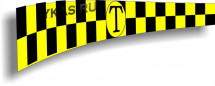 """Такси шашечки полоса магн.  """"TAXI"""" 20*60см, к-т1шт, желтый"""