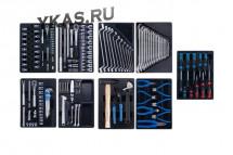 KING TONY Набор инструментов для тележки, 9 ложементов, 161 предмет_53954