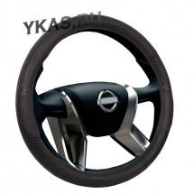 Оплетка на руль  VOIN  REPTILE  0701 M  экокожа, черный