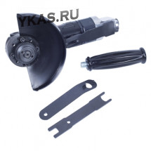 Пневматическая угловая шлифовальная машина (УШМ) 125 мм, 11000 об/мин, с рычажным выключателем _39252
