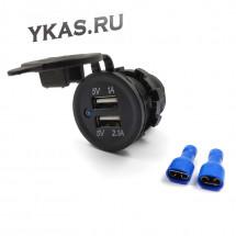 Врезное зарядное устройство USB 2USB 2.1A/1A