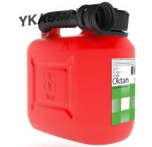 Канистра пластиковая  Oktan   5л (красная)
