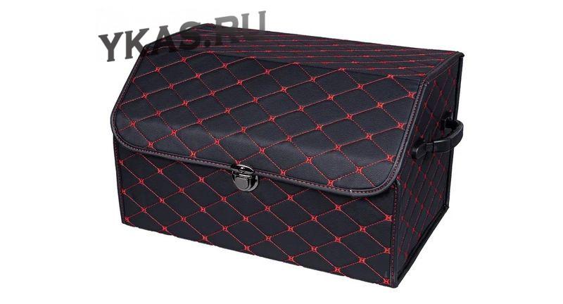 Сумка органайзер в багажник «M» 45/30/30 черный/шов красный