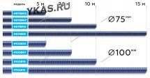 Шланг газоотводный D=102мм, длина 7,5м (синий)_14318