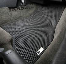 Коврики Chevrolet Lanos c 2009-2015г.   основа черная, кант красный  EVA