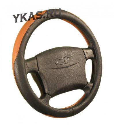Оплетка на руль   CF  DIPLOMAT - М, Чёрный/Оранжевый